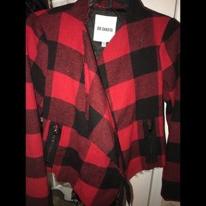 Dakota Rosanna Plaid  Red Jacket